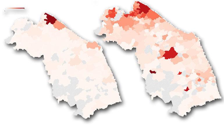 Immagini Cartina Marche.La Mappa Dei Contagi Da Coronavirus Nei Comuni Delle Marche Il Ducato